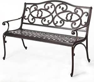Christopher Knight Home Gael Cast Aluminum Garden Bench