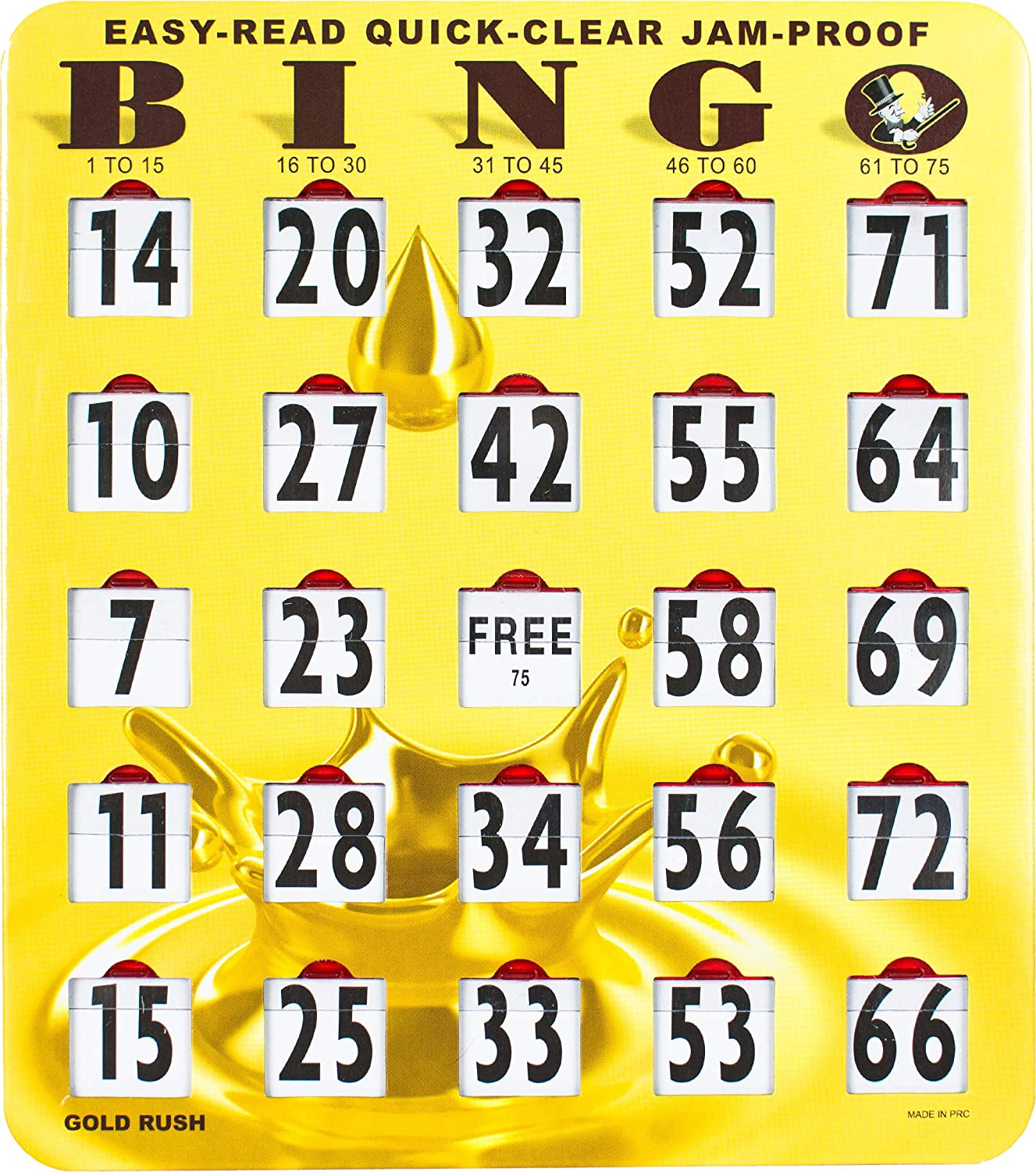 MR Max 54% OFF CHIPS Jam-Proof Quick-Clear Easy-Read Bingo Challenge the lowest price with Cards Large