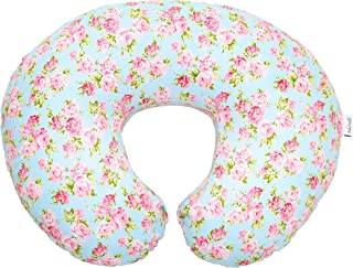Premium Quality Nursing Pillow Cover by Mila Millie - Blue Classic Chic Flowers Slipcover - 100% Cotton Hypoallergenic - Great for Breastfeeding Mothers - Perfect Baby Shower Gift (Blue)