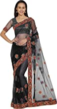 designer embroidered net sarees