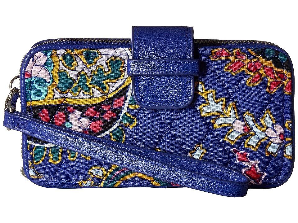 Vera Bradley RFID Smartphone Wristlet (Romantic Paisley) Wristlet Handbags