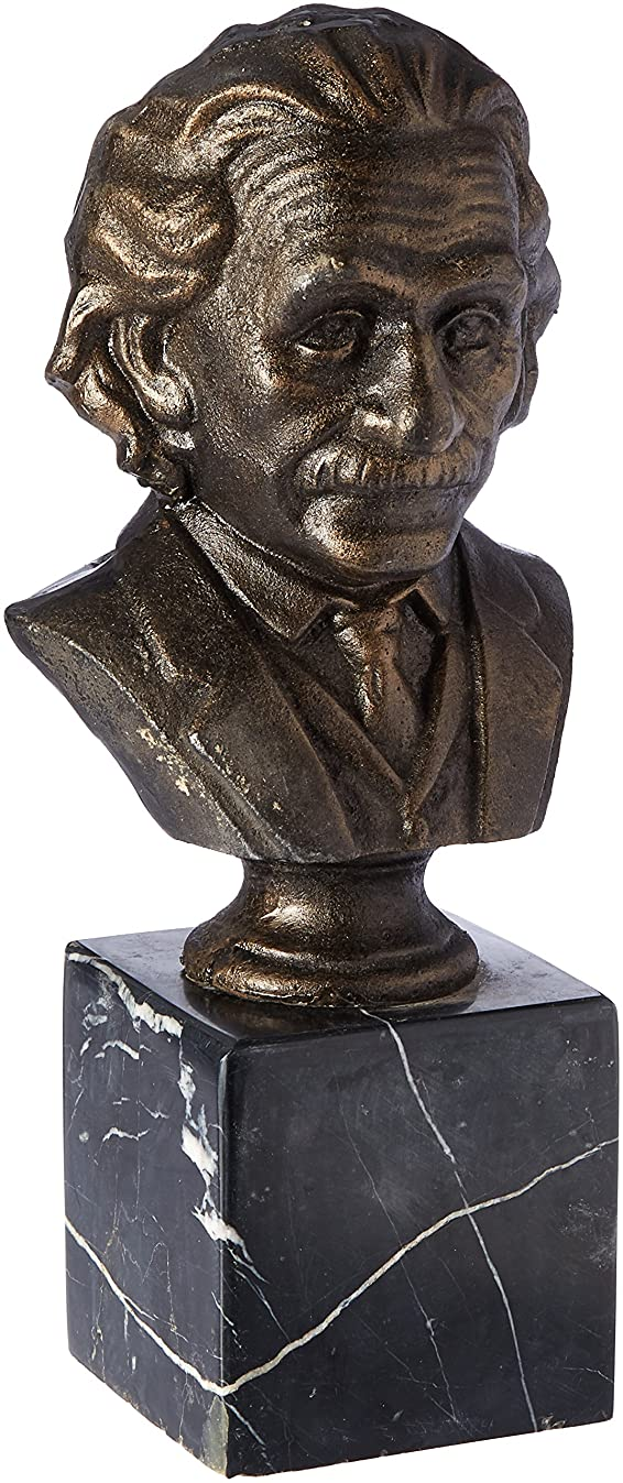 Design Toscano Albert Einstein Cast Iron Sculptural Bust