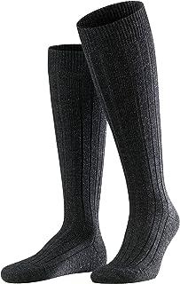FALKE Kniestrümpfe Teppich im Schuh Schurwolle Herren schwarz blau viele weitere Farben verstärkte Kniesocken mit Muster atmungsaktiv lang einfarbig hoch und warm mit Plüschsohle 1 Paar