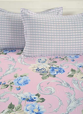 Swayam Magenta Colour Floral AC Comfortor-ACS01-12021