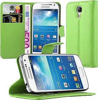 Cadorabo Funda Libro para Samsung Galaxy S4 Mini en Verde DE Menta – Cubierta Proteccíon con Cierre Magnético, Tarjetero y Función de Suporte – Etui Case Cover Carcasa