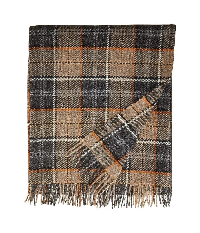 Pendleton  Washable  Eco-Wise Wool Fringed Throw (Smoke) Blankets
