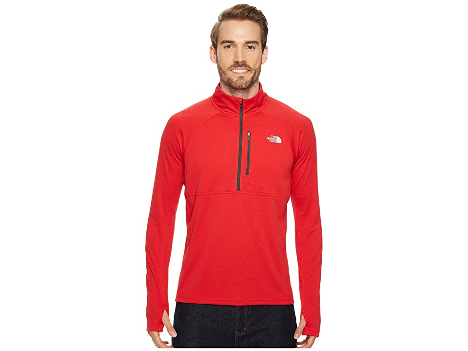The North Face Impulse Active 1/4 Zip (TNF Red Heather) Men