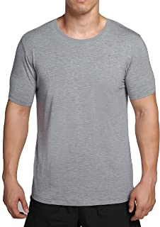 worboo Bamboo T-Shirt for Men, Breathable Soft Plain Men's Undershirts - Crew Neck