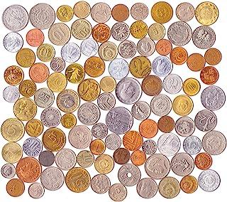 100 مجموعة عملات أجنبية مختلفة جمع المال من جميع أنحاء أوروبا. القطع النقدية القابلة للتحصيل والعملات القديمة لألبومك المع...