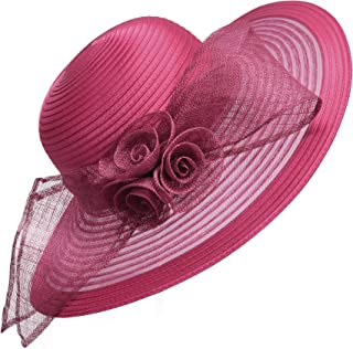 Sombrero de ala ancha de Lawliet para mujer, formal, para