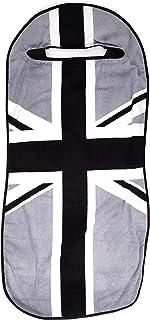 Seat Armour (SA100MINIBGR) Black/Gray 'British Flag' Seat Protector Towel