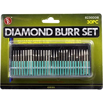 30 Stk Diamond Rotary Burr Bohrer Gravur Bits Fliesen Glas Holz B8C7