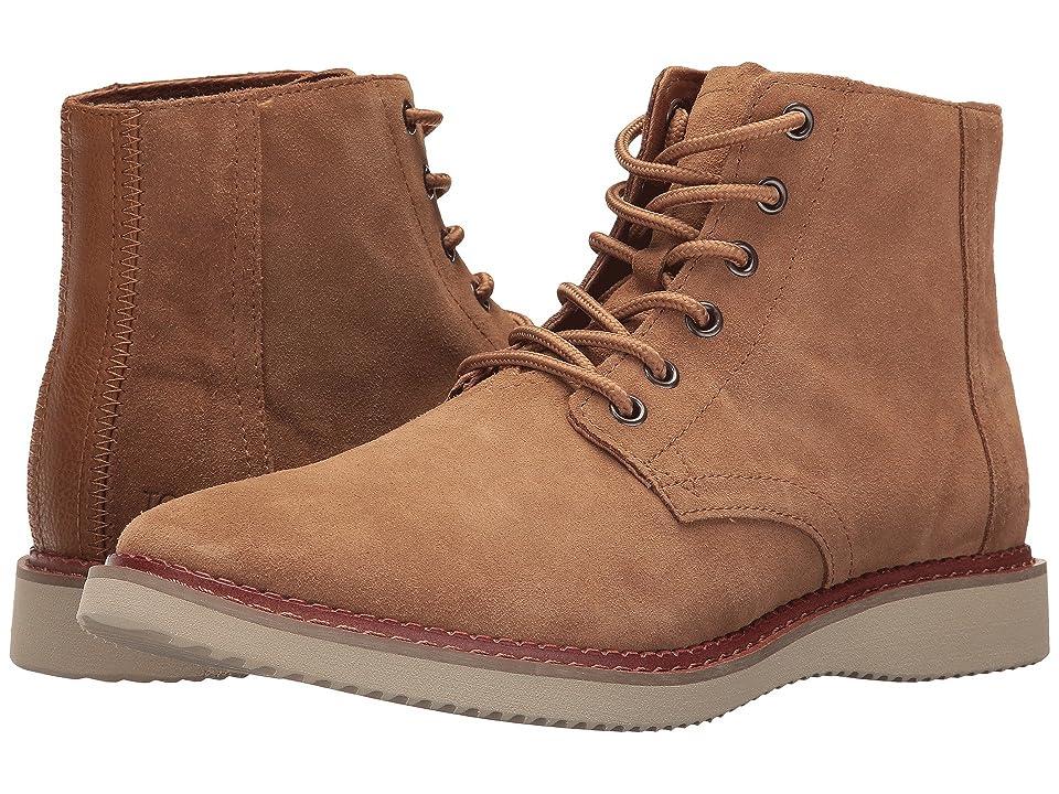 TOMS Porter Water-Resistant Boot (Toffee Suede) Men