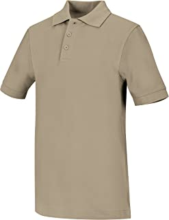 Classroom Big Boys' Youth Unisex Short Sleeve Pique Polo