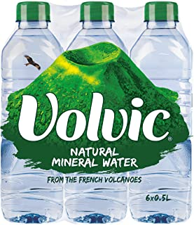 Volvic Natural Mineral Water 500ml, Pack of 6