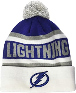 NHL Men's  OTS Jasper Cuff Knit Cap with Pom