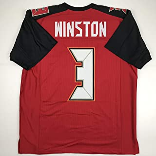 Unsigned Jameis Winston Tampa Bay Red Custom Stitched Football Jersey Size XL New No Brands/Logos