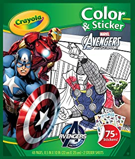 Crayola Marvel Avengers Color & Sticker Book, School Holidays for Kids, Age 3, 4, 5, 6, Boys