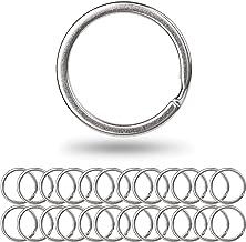Splitringen voor sleutelhangers van gehard staal, 24 st, Ø 25 mm, sleutelorganisatie voor auto- en huissleutels, Multifunc...