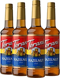 hazelnut flavored syrup