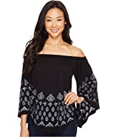 Karen Kane - Printed Off the Shoulder Top