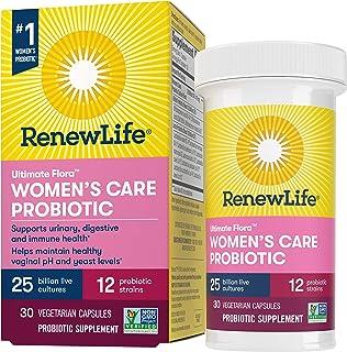 Renew Life #1 Women's Probiotics 25 Billion CFU Guaranteed, 12 Strains, Shelf Stable, Gluten Dairy & Soy Free, 30 Capsules...