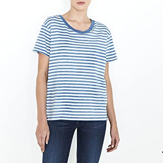 Levi's 39189-0004 Women's Boyfriend Tee Liza Faded Indigo/Cloud Dancer