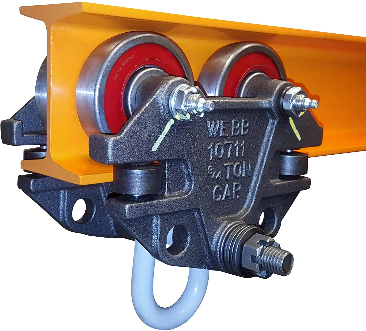 Jervis Webb Beam Trolley With Side Guide Many popular brands Duty Rollers. 3 Heavy Max 70% OFF 4
