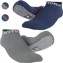 Non Slip Anti Skid Grip Socks (2 Pairs) (Perfect for Pilates, Yoga, Barre, Dance, Martial Arts, Trampoline, Fitness, Hospital, Rehab, Home & Body Balance)