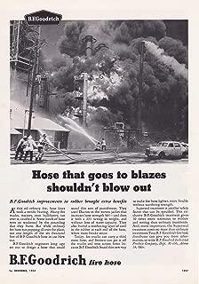 1958 Original Magazine Print Ad BF Goodrich Fire Hose