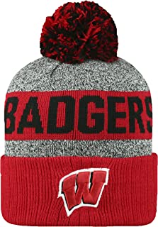 finest selection 7be71 9f69f Top of the World NCAA Arctic Striped Cuffed Knit Pom Beanie Hat