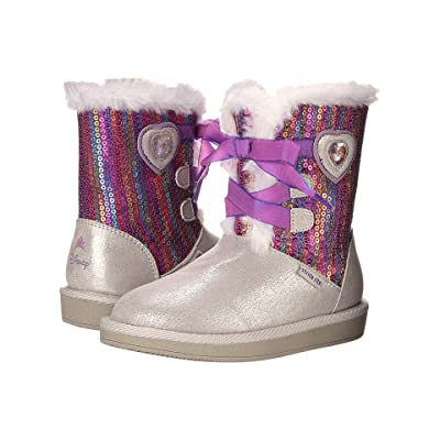 Stride Rite Disney Frozen Cozy Boot (Toddler) (Silver) Girls Shoes