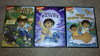 Go Diego Go! 3 DVD Lot! Moonlight Rescue/Great Gorilla/Diego's Magical Missions