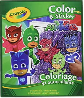 Crayola PJ Masks Color & Sticker Book, 32 Page Coloring Book Plus Over 50 Stickers