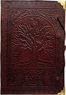 Mens Large Tree of Life leather journal handmade travel notebook unlined diary writing antique Women - journal writing notebook bound daily notepad bound multi purpose