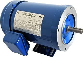 Hallmark Industries MA0505E AC Motor, 1/2 hp, 1725 RPM, 3PH/60 Hz, 208-230/460 VAC, 56C/TEFC with Foot SF 1.15 Class F Insulation, Inverter Duty (Pack of 1)
