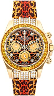 Daytona Mechanical (Automatic) Leopard Dial Mens Watch 116598 (Certified Pre-Owned)