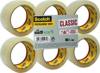 Packing Tape. Scotch Tape - Classic Clear Packaging Tape. 6 Rolls of box sealing tape. Easy to unwind and ideal for sealing boxes and parcels.