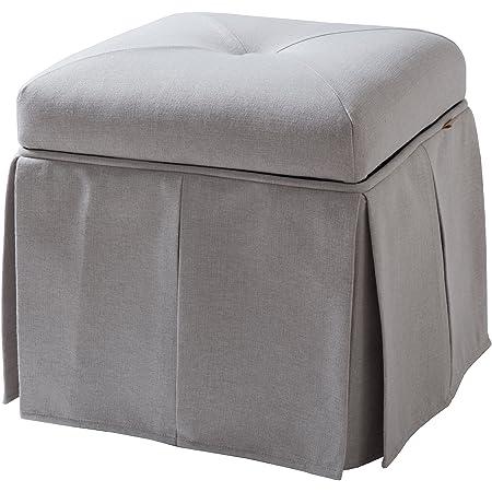 Amazon Com Jennifer Taylor Home Stacy Storage Vanity Stool Bone White Furniture Decor