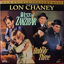 Lon Chaney MGM Double Feature Laser Disc Laserdisc : West of Zanzibar & the Unholy Three