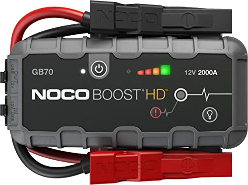 NOCO Boost HD GB70 2000 Amp 12-Volt UltraSafe Lithium Jump Starter Box, Car Battery Booster Pack, Portable Power Bank...