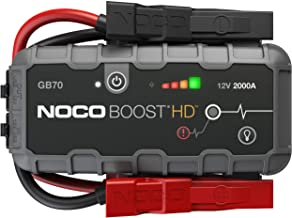 NOCO Boost HD GB70 2000 Amp 12-Volt Ultra Safe Portable Lithium Car Battery Jump Starter Pack For Up To 8-Liter Gasoline And 6-Liter Diesel Engines