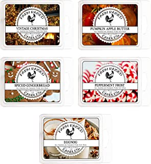Cool Weather Variety Assortment 5 Pack (15 Ounces). USA Hand-Made Scented Wax Melts.100% All Natural Farm Raised Candles S...
