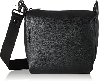 Mandarina Duck Damen Mellow Leather Umhängetaschen, Nero, 24x24x10