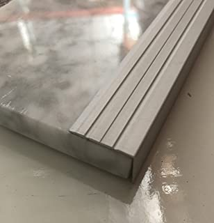 Stair Noses European Anodized Aluminum and Angle Edges Profile (48, Anodised Silver)