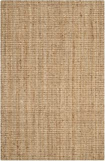 Natural Fiber Collection Hand Woven Natural Jute Square Area Rug Basketweave Natural Rug for Home Decor (Jute, 2'x3')