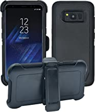 AlphaCell Cover Compatible with Samsung Galaxy S8 | Holster Case Series | Military Grade Protection with Carrying Belt Clip | Protective Drop-Proof Shock-Proof | Black/Black