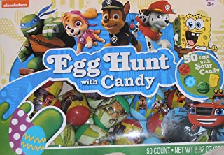 Nickelodeon Egg Hunt 50 Filled Decorated Easter Eggs Paw Patrol Turtles