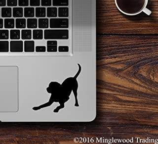 """Minglewood Trading White - 2x PLAYFUL LAB 2.5"""" Vinyl Decal Stickers - Labrador Retriever - Dog Puppy - 20 COLOR OPTIONS"""