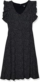 Tommy Hilfiger womens Flutter Sleeve Fit and Flare Dress Dress